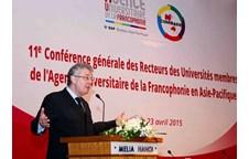 Lãnh đạo Tổ chức đại học Pháp ngữ (AUF) làm việc với Trường Đại học Vinh