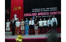 Chung kết cuộc thi Hùng biện tiếng Anh của Liên chi đoàn khoa Ngoại ngữ