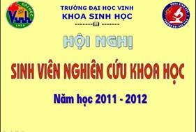 Khoa Sinh học tổ chức thành công Hội nghị Sinh viên NCKH cấp Khoa, năm học 2011 - 2012