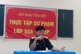 Hội nghị tổng kết thực tập sư phạm của Lớp 50A GDQP