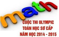 """Cuộc thi """"Olympic Toán học sơ cấp"""" năm học 2014-2015"""