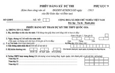 Bộ GD&ĐT hướng dẫn việc điều chỉnh thông tin trong phiếu ĐKDT