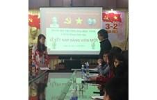 Thông báo về lễ kết nạp Đảng viên mới của Chi bộ khoa Giáo dục