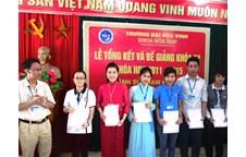 Lễ tổng kết và bế giảng khóa đào tạo thứ 52 (2011-2015) ngành Sư phạm Hóa học