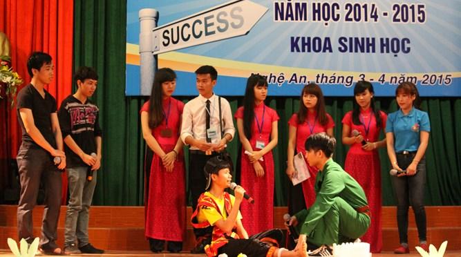 """Hội thi """"Sinh viên với việc rèn luyện kỹ năng nghề nghiệp"""" năm học 2014-2015 Khoa Sinh học"""