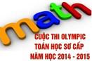 Đề thi và Đáp án Olympic Toán sơ cấp Năm học 2014-2015
