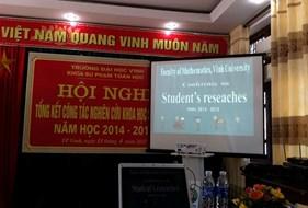 Kỷ yếu Hội nghị tổng kết SV NCKH - Khoa SP Toán học, năm học 2014-2015