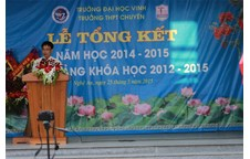 Toàn cảnh Lễ Tổng kết năm học 2014 - 2015 và Bế giảng khóa học 2012 - 2015 của Trường THPT Chuyên