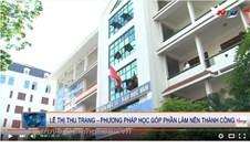 Video Truyền hình Nghệ An đưa tin Em Lê Thị Thu Trang với 28,00 điểm khối D, đã lọt vào Top 3 học sinh có điểm thi Đại học cao nhất trong tổng số 536.004 em dự thi Đại học Khối D trên cả nước.