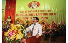 Diễn văn khai mạc Đại hội đại biểu Đảng bộ Trường Đại học Vinh lần thứ XXXI, nhiệm kỳ 2015 - 2020