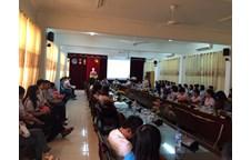 Sinh viên Thái Lan trong chương trình liên kết đào tạo bán phần chuyên ngành ngôn ngữ Anh nhập học