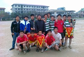 49K1 Xây dựng vô địch Giải bóng đá mini nam sinh viên khoa Xây dựng lần thứ nhất - năm 2011